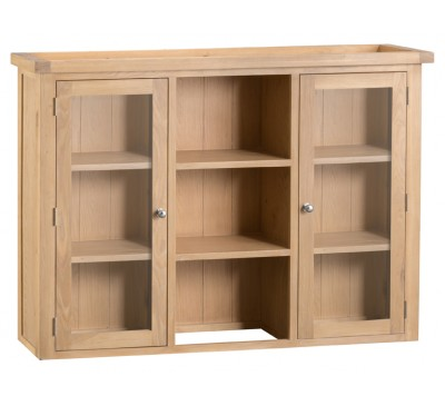 Hawkshead Lime Wash Oak Large Dresser Top - Glass Doors