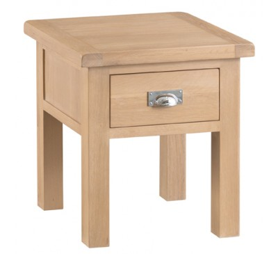 Hawkshead Lime Wash Oak Lamp Table