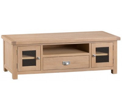 Hawkshead Lime Wash Oak Large TV Unit