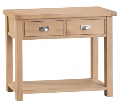 Hawkshead Lime Wash Oak Medium Console Table