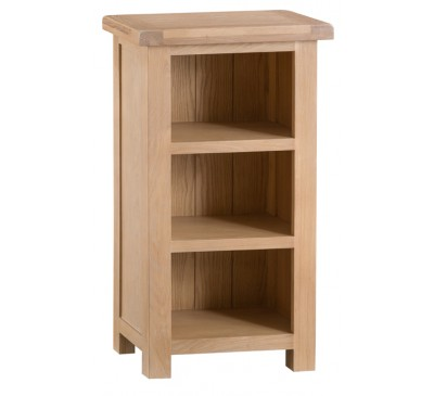 Hawkshead Lime Wash Oak Narrow Bookcase