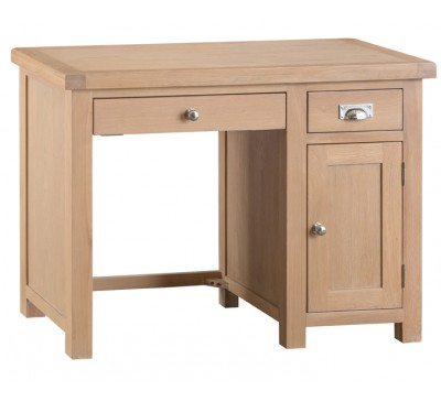 Hawkshead Lime Wash Oak Single Computer Desk