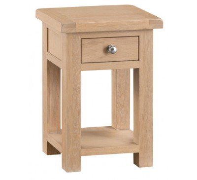Hawkshead Lime Wash Oak Side Table