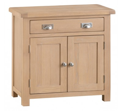 Hawkshead Lime Wash Oak Small 2 Door 1 Drawer Sideboard
