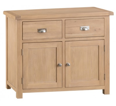 Hawkshead Lime Wash Oak Small 2 Door 2 Drawer Sideboard