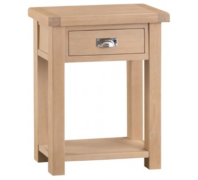 Hawkshead Lime Wash Oak Telephone Table