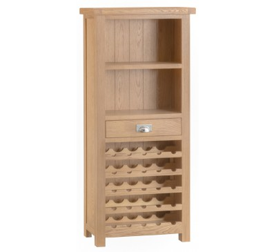 Hawkshead Lime Wash Oak Wine Cabinet