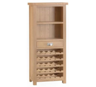 Hawkshead Lime Wash Oak Wine Cabinet