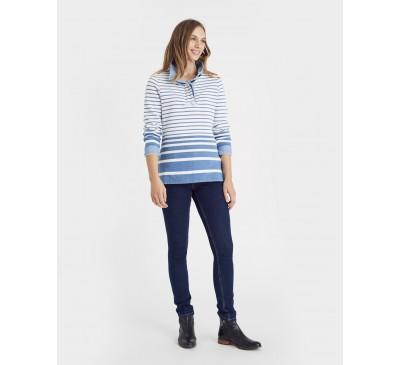 Joules Cowdray Salt Wash Striped Sweatshirt