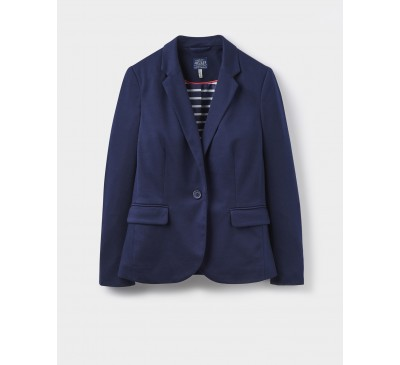 Joules Mollie French Navy Soft Jersey Blazer