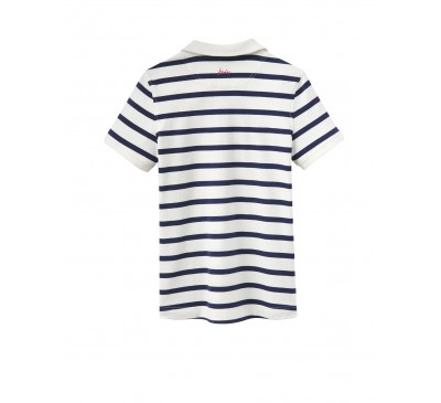 Joules Trinity Navy Floral Slim Polo Shirt