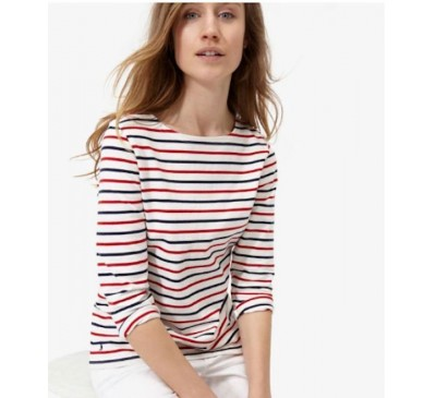 Harbour Jersey Top Red and Navy Stripe