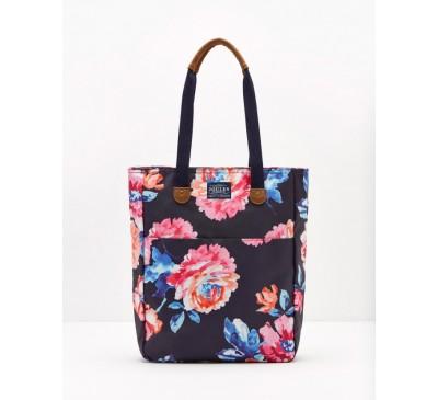Homerton Navy Rose Canvas Tote Bag