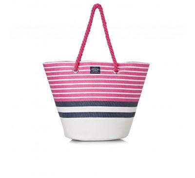 Summer Pink Stripe Bag