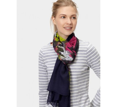 Wensley Scarf French Navy Floral