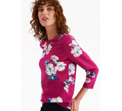 Joules Womens Harbour Print Top Poppy
