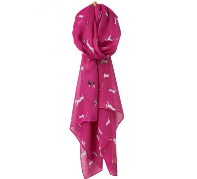Joules Wensley Scarf Pink Dog
