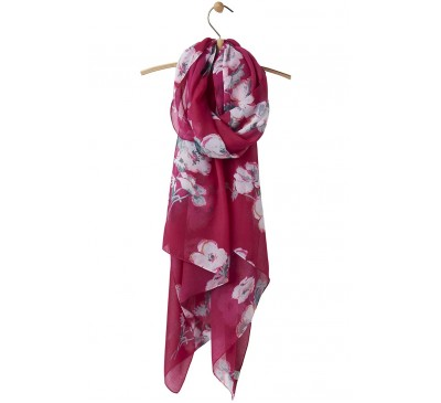 Joules Wensley Scarf Poppy
