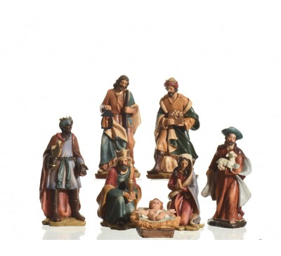 15cm Poly Nativity Set With 7 Figures multi