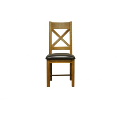Keswick Cross Back Chair Pu Seat