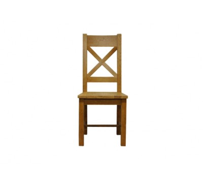 Keswick Cross Back Chair Wooden Seat