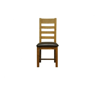 Keswick Ladder Back Chair Pu Seat