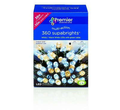 360 Multiaction Supabright Lights with Warm White LEDs