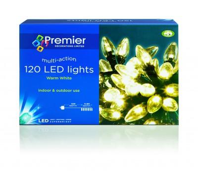 120 Warm White LED Lights C6 Multi Action C6 Bulb