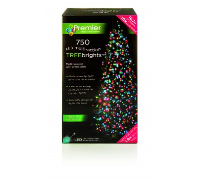 750 Treebrights LED Multi Coloured Timer Christmas Lights