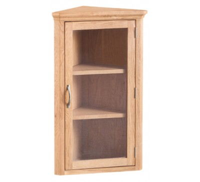 Calbeck Light Oak Corner Cupboard 61x34x100cm