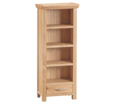 Calbeck Light Oak CD / DVD Rack 50x25x120cm
