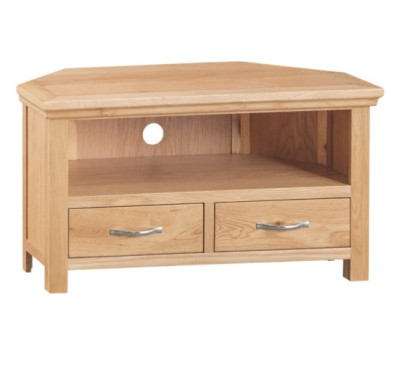 Calbeck Light Oak Corner TV Unit 90x42x50cm