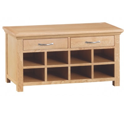 Calbeck Light Oak Hall Bench 100x35x51cm
