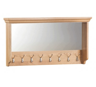 Calbeck Light Oak Large Glazed Coat Rack 90x15x50cm