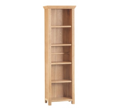 Calbeck Light Oak Large Narrow Bookcase 55x25x180cm
