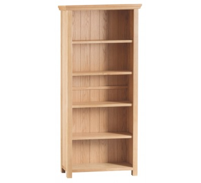 Calbeck Light Oak Large Wide Bookcase 80x25x180cm