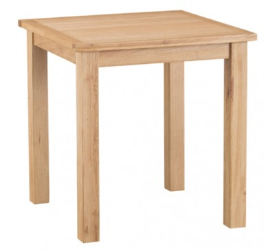 Calbeck Light Oak Small Fixed Table 75x75x78cm