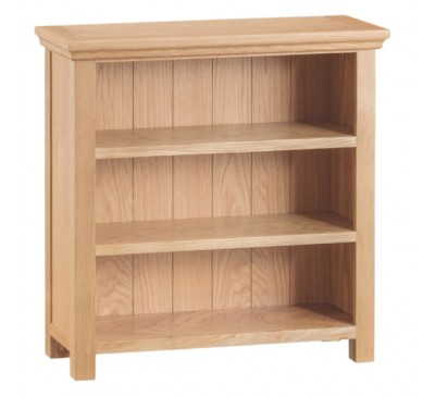 Calbeck Light Oak Small Wide Bookcase 80x25x80cm