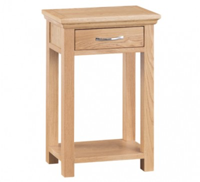 Calbeck Light Oak Telephone Table 50x30x75cm
