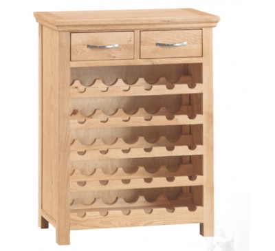 Calbeck Light Oak Wine Cabinet 75x30x94cm
