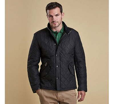 Barbour Mens Powell Quilted Navy Jacket
