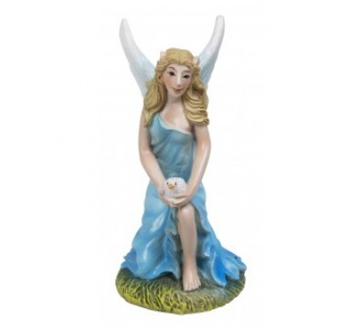 Ice Blue Kneeling Fairy