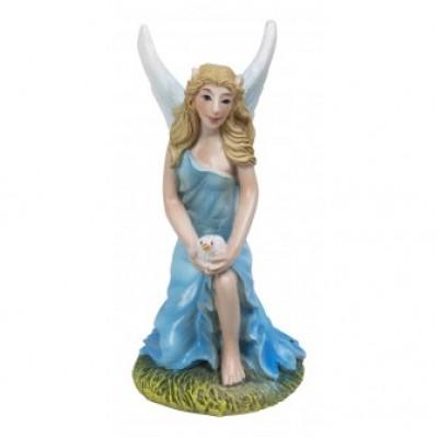 Ice Blue Kneeling Fairy