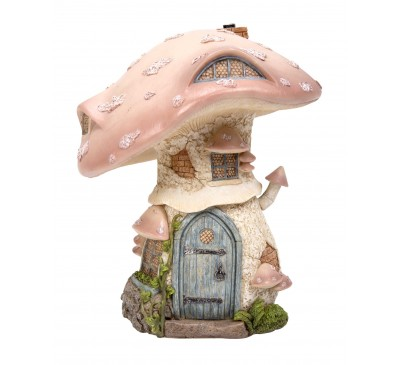 Pastel Pink Toadstool Cottage