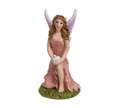 Pink Kneeling Fairy