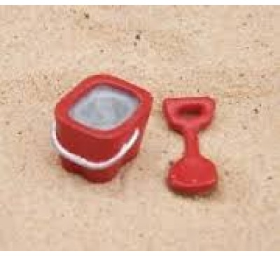 Red Bucket & Spade