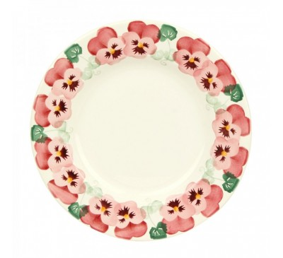 Emma Bridgewater Pink Pansy 10 1/2 inch Plate