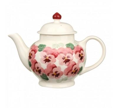 Emma Bridgewater Pink Pansy 4 Mug Teapot