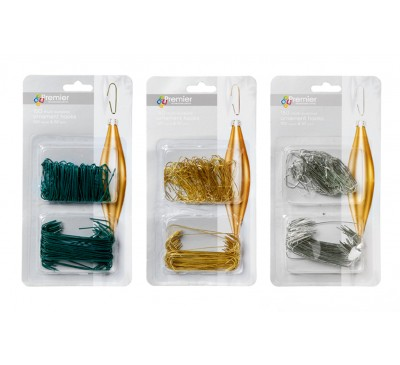 150 Metal Hooks Silver Gold Green