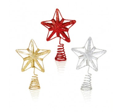 13cm Red Gold Silver Metal Star